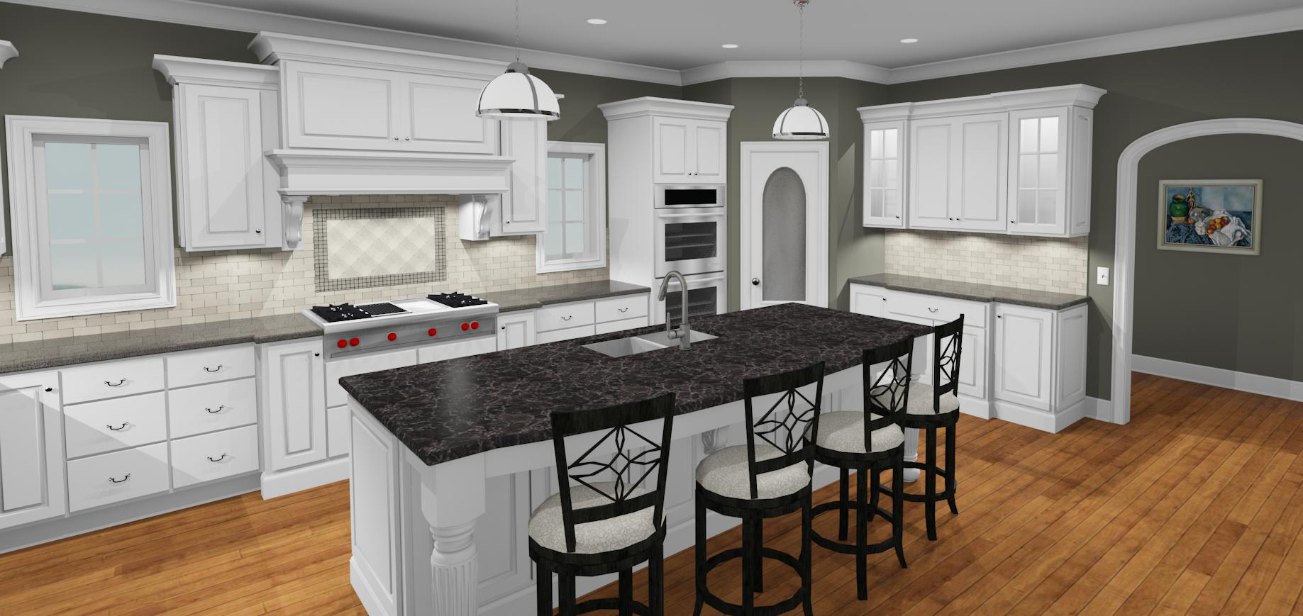 Gray white kitchen design for Gray and white kitchen decor